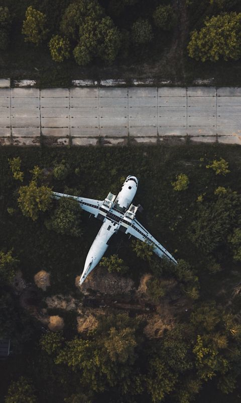 drone over road wallpaper