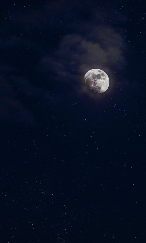 low angle photography of moon wallpaper