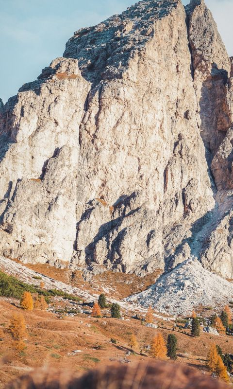 selective focus photography of rock formatio wallpaper
