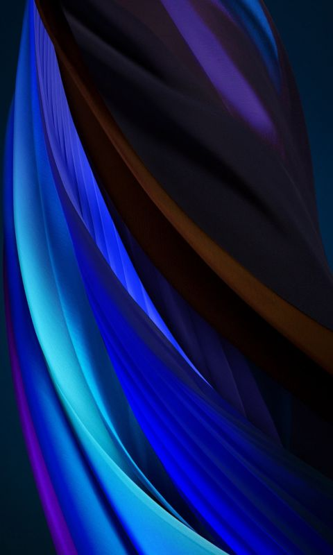 iphone se 2020 stock wallpaper Silk Blue Dark wallpaper