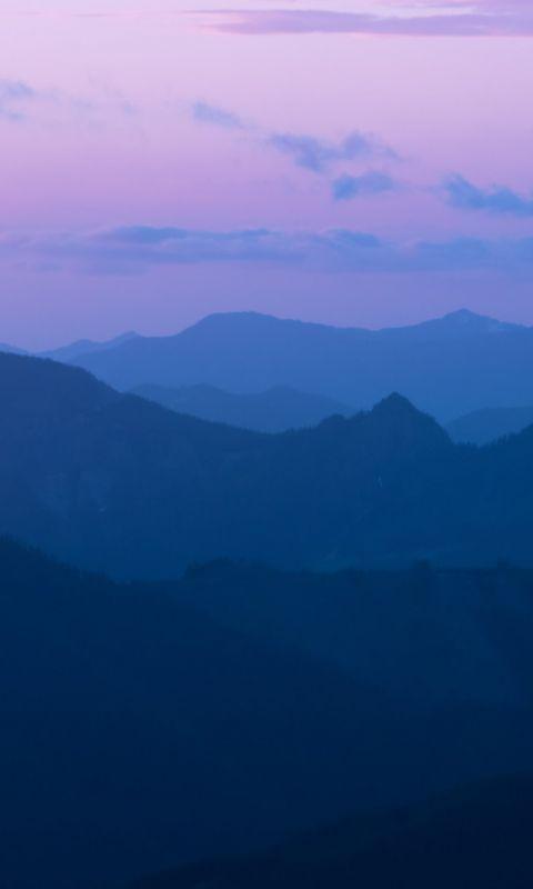 mountain ranges during golden hour wallpaper