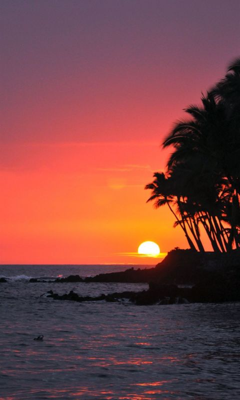 Big Island Sunset Hawaii wallpaper