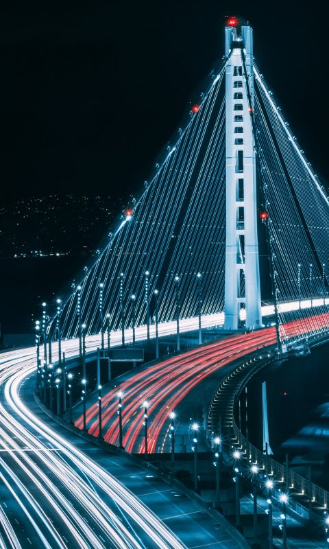 San Francisco bridge during night time wallpaper