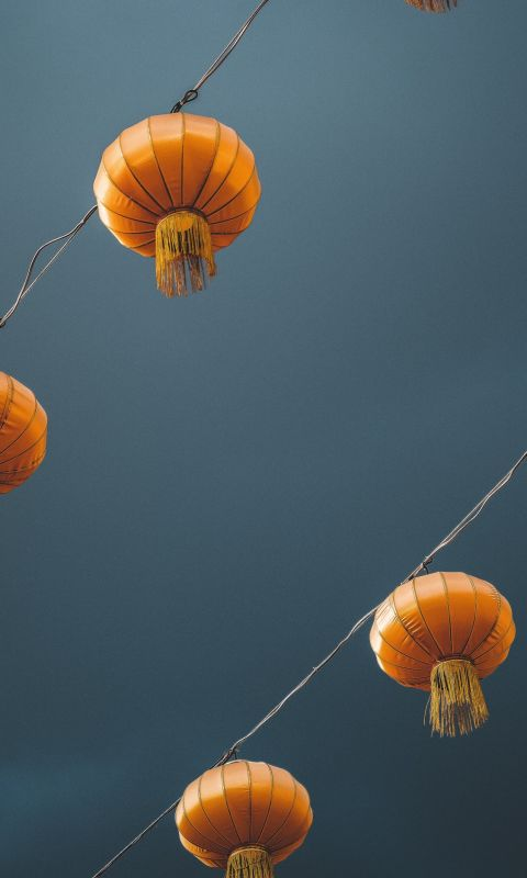 low angle photography of lantern wallpaper