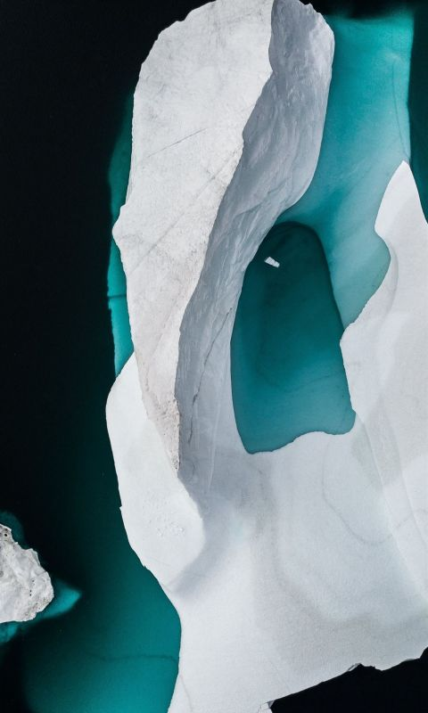 Iceberg drone photo wallpaper