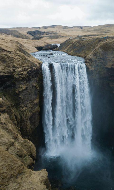 waterfalls photography wallpaper