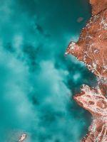 aerial view of seashore wallpaper