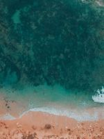 aerial photography of shore wallpaper
