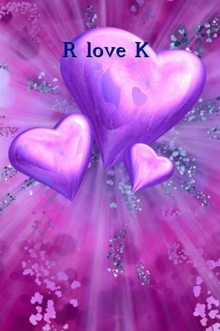 R Love K Text Wallpaper