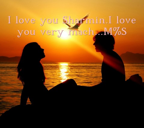 I love you Sharmin.I love you very mach...M%S Text Wallpaper